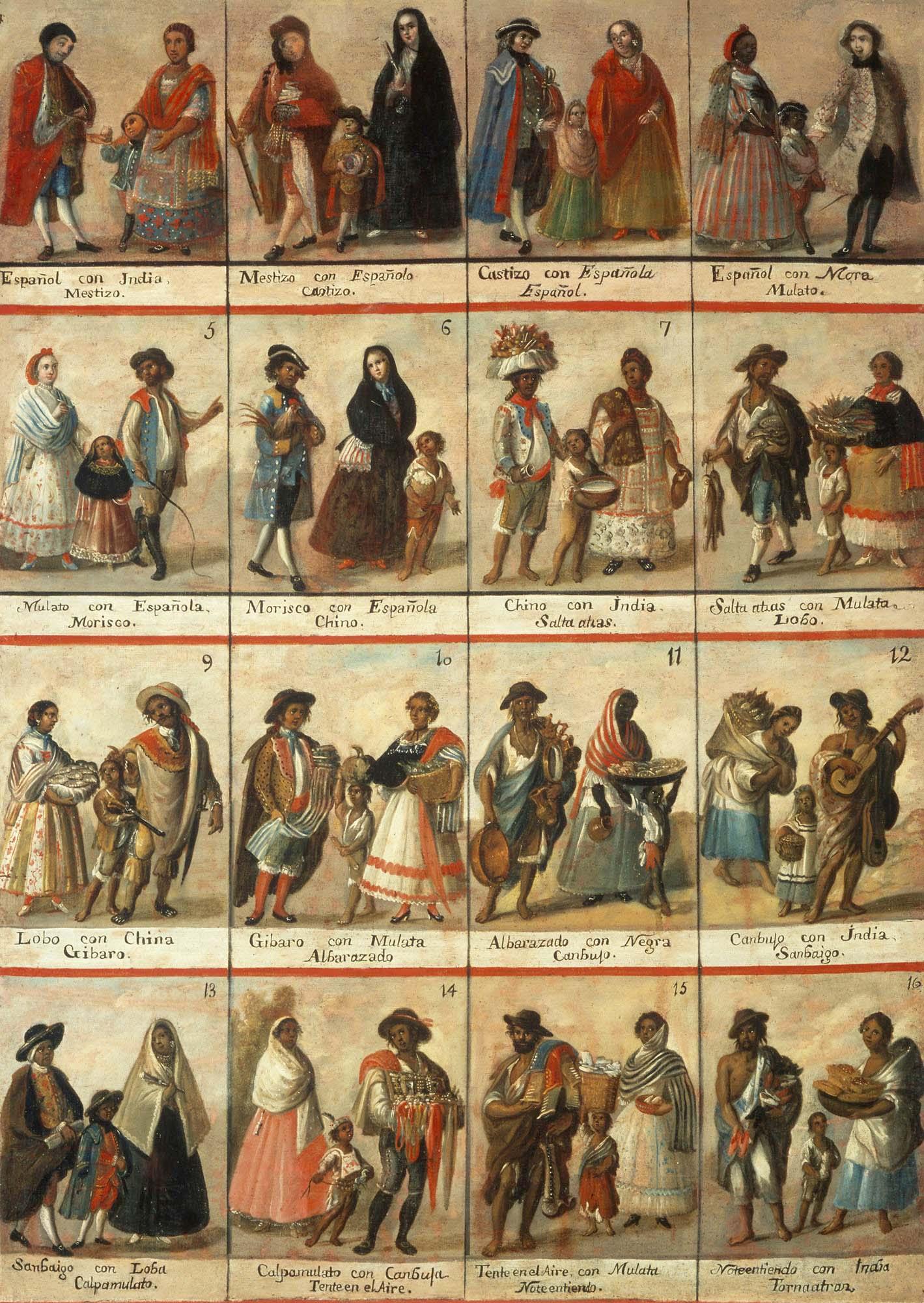 Diferentes fenotipos y grupos étnicos de Latinoamérica - Página 4 CastasEnLaNuevaEspana